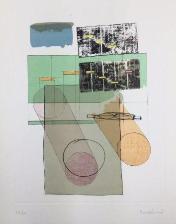 Lithographie Bonalumi - La casa del vento