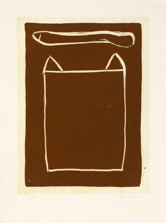 Gravure Hernandez Pijuan - La casa desde la que se divisa el campo III