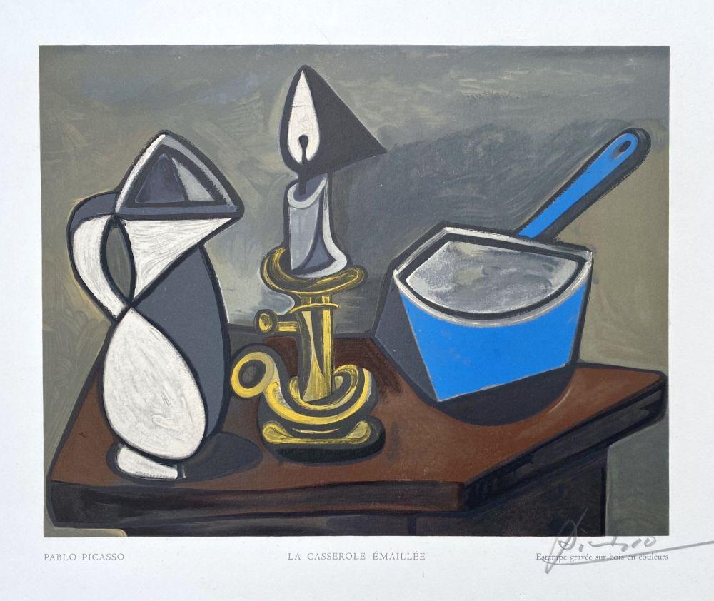 Gravure Sur Bois Picasso (After) - La casserole émaillée