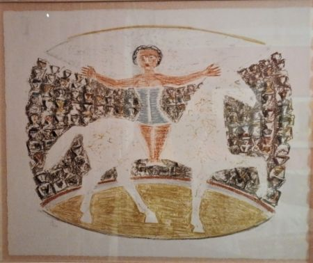 Lithographie Campigli - La Cavallerizza