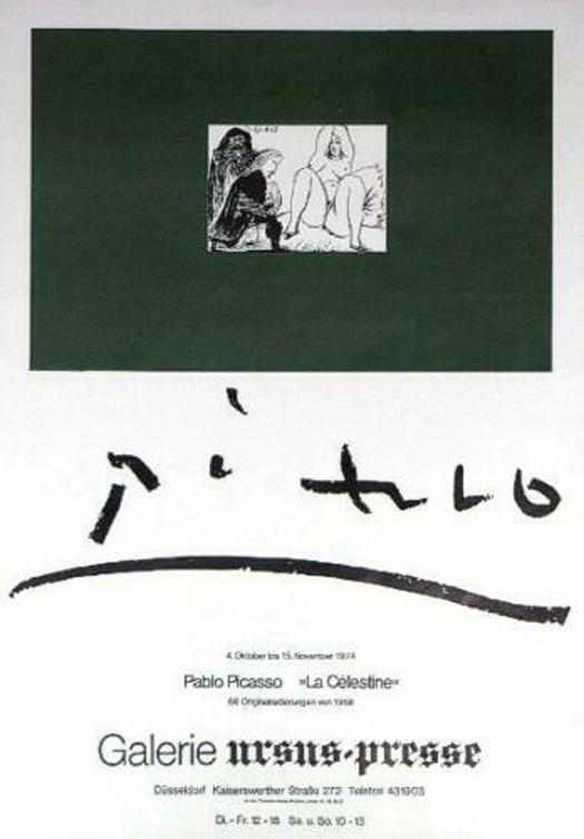 Affiche Picasso - '' La Celestine ''  Galerie Ursus Presse