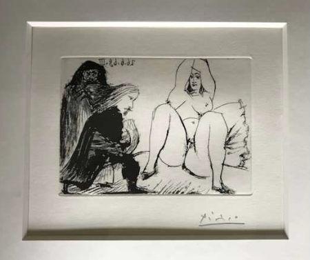 Aucune Technique Picasso -  La Celestine, sa protegee, et un jeune gentilhomme