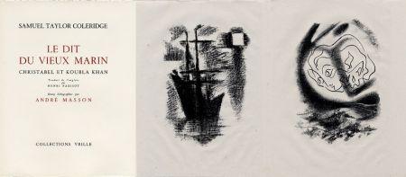 Livre Illustré Masson - LA CHANSON DU VIEUX MARIN.24 lithographies originales.