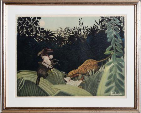 Eau-Forte Et Aquatinte Villon - La Chasse au Tigre after Rousseau
