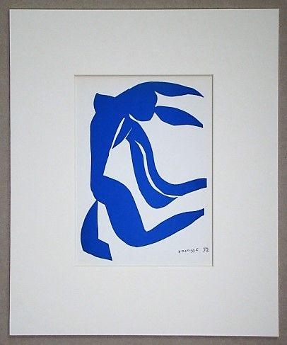 Lithographie Matisse - La chevelure - 1952