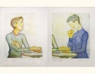 Lithographie Klossowski - La chiromancienne