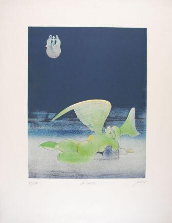 Lithographie David - La Chute
