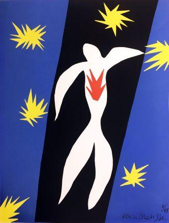 Lithographie Matisse - LA CHUTE D'ICARE (Pour la revue Verve n°13, 1945)