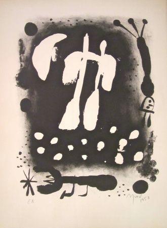 Lithographie Miró - La clé des champs