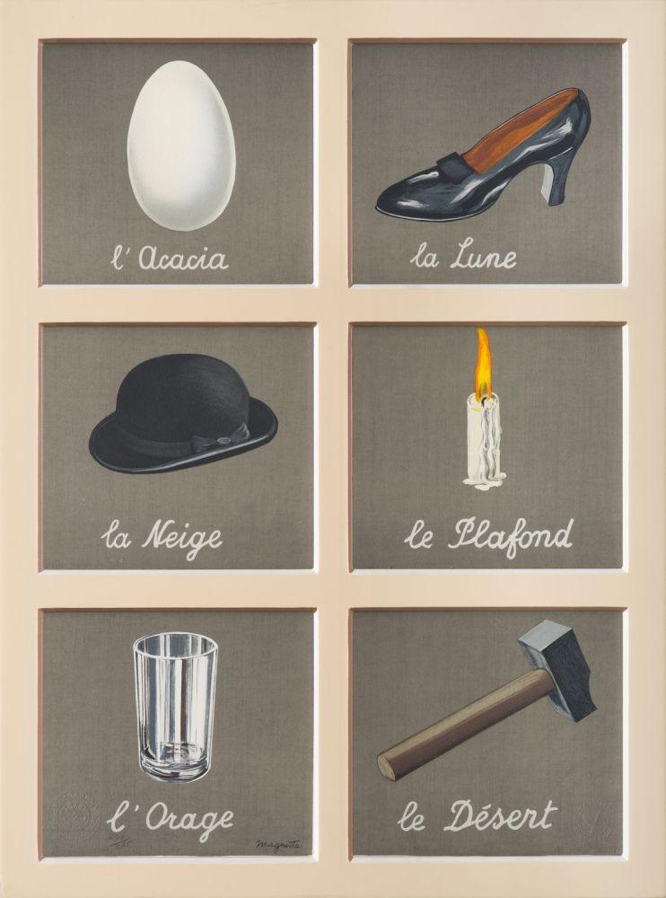 Lithographie Magritte - La Clé Des Songes