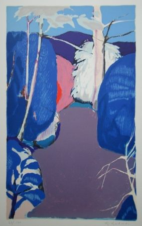 Lithographie Godard - La clairière