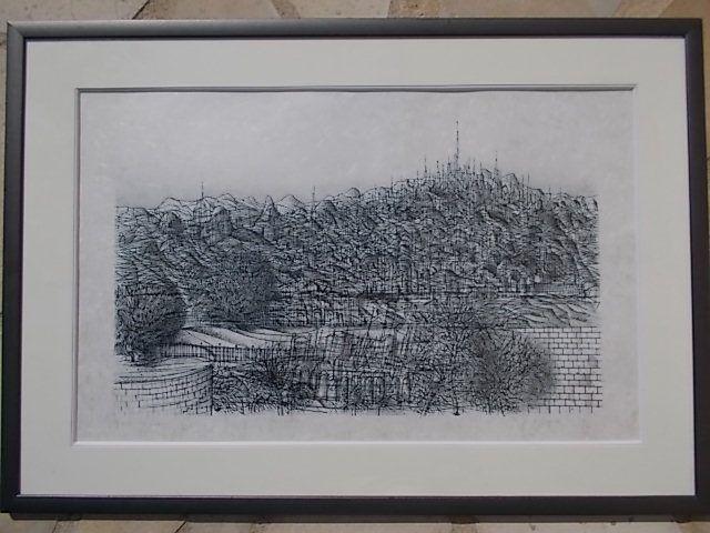 Lithographie Carzou - La Colline