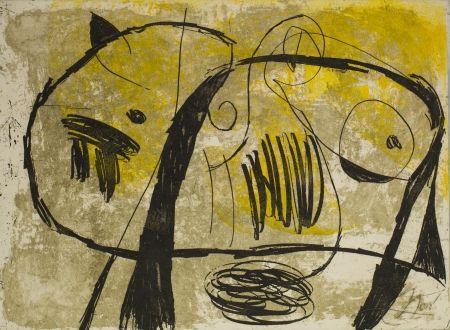 Aquatinte Miró - La Commedia Del Arte V