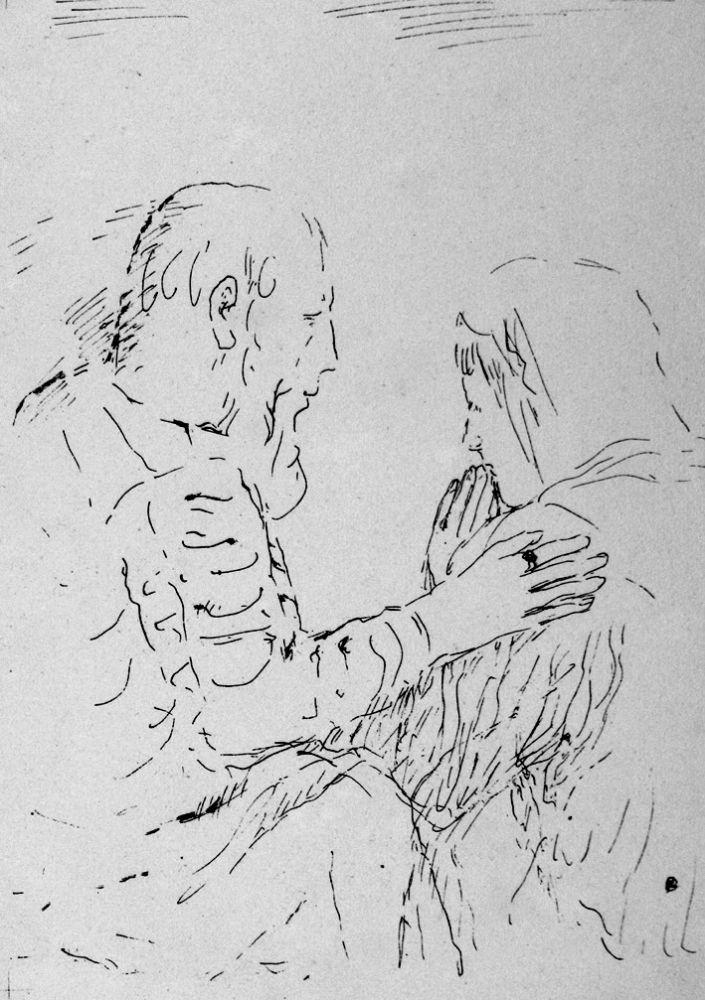 Lithographie Bonnard - La confessione
