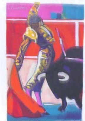 Lithographie Briata - La corrida