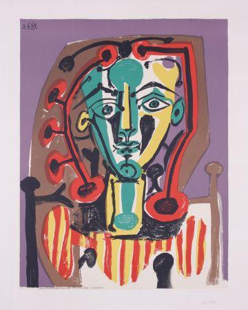 Lithographie Picasso - La corsage Raye