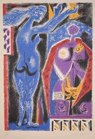 Lithographie Masson - La Couronmeny au Nu Bleu