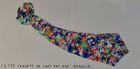 Lithographie Baj - La Cravate