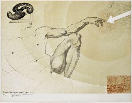 Lithographie Subirachs - La creació de l'home