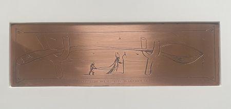 Gravure Dali - La Cuillere aux Bequilles