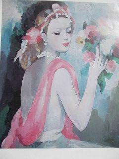 Affiche Laurencin - La dame et le bouquet