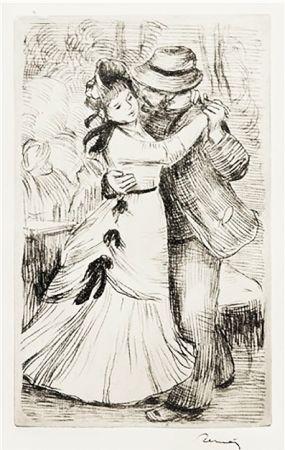Gravure Renoir - LA DANSE À LA CAMPAGNE (1890)