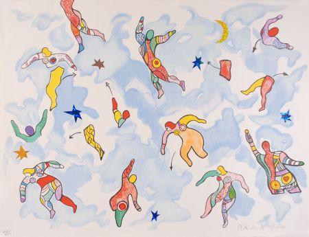Lithographie De Saint Phalle - La danse éclatée