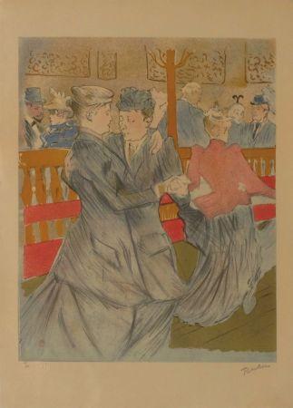 Lithographie Toulouse-Lautrec - La danse au Moulin Rouge