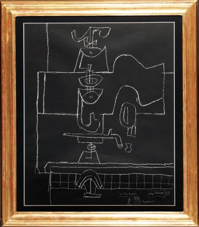Lithographie Le Corbusier - La dive bouteille, le verre et le livre