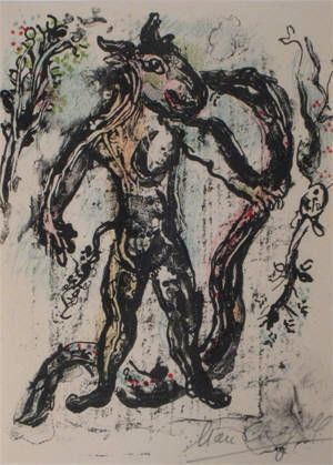 Lithographie Chagall - La Feerie Et Le Royaume