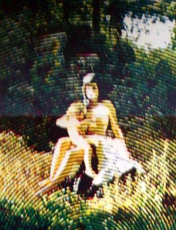 Sérigraphie Jacquet - La femme à l 'enfant
