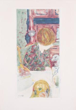 Aquatinte Bonnard - La Femme au chien