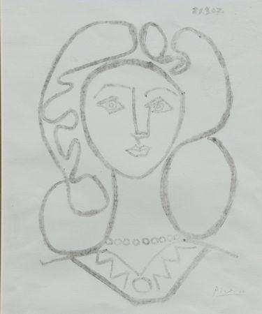Lithographie Picasso - La Femme Au Collier