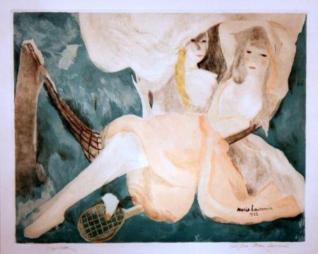 Aquatinte Laurencin - La Femme au Hamac