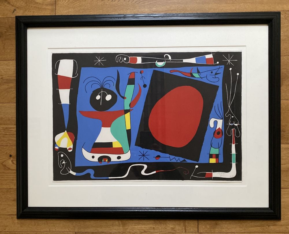 Lithographie Miró - La Femme Au Miroir