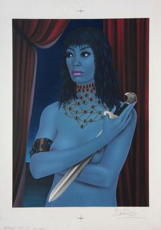 Lithographie Labisse - La Femme avec un Couteau (BAT) - Woman with a Dagger
