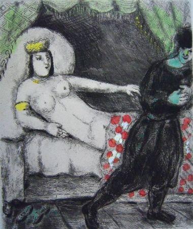 Gravure Chagall - La femme de Potiphar