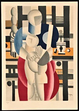 Lithographie Leger - La Femme Et L'Enfant