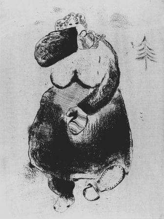 Eau-Forte Chagall - La femme moineau