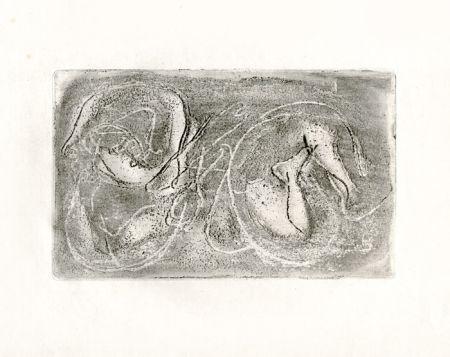 Eau-Forte Fautrier - La femme morte (Fautrier l'enragé)