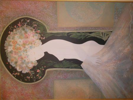 Lithographie Ribes - La femme nue I