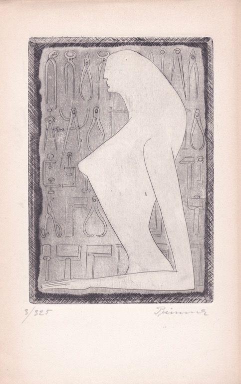 Eau-Forte Prinner - La Femme tondue