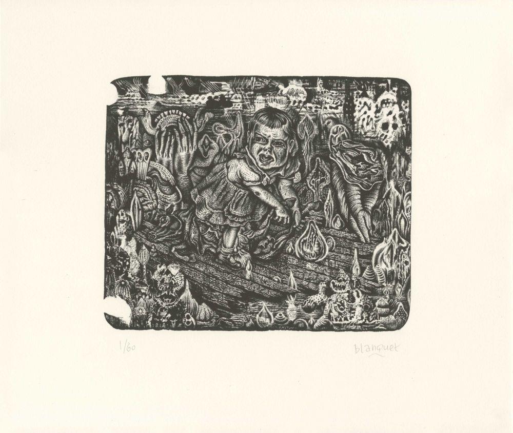 Lithographie Blanquet - La Fente de l'Aube