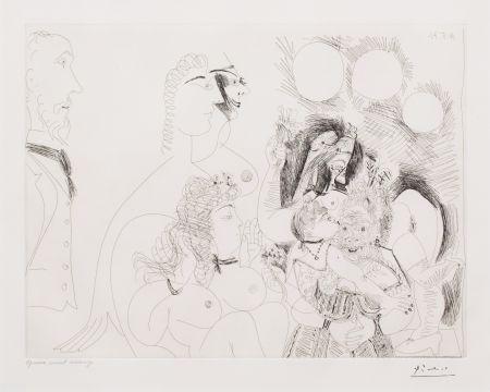 Gravure Picasso - La Fete de la Patronne