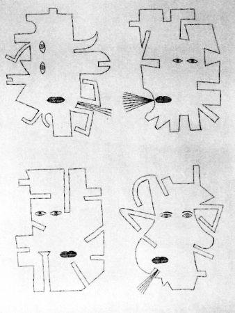 Eau-Forte Brauner - La figure se mimetise à l'image de l'outil