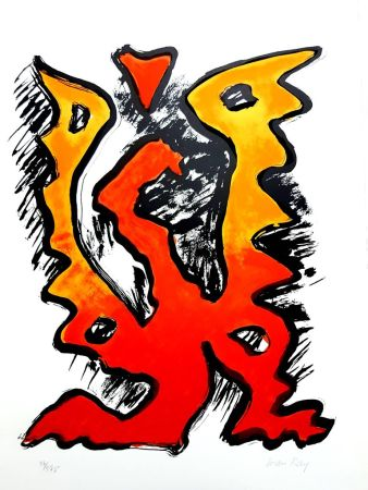 Lithographie Ray - La Flamme