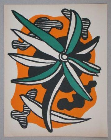 Lithographie Leger - La Fleur