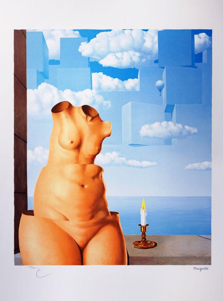 Lithographie Magritte - La Folie des Grandeurs II (Megalomania)