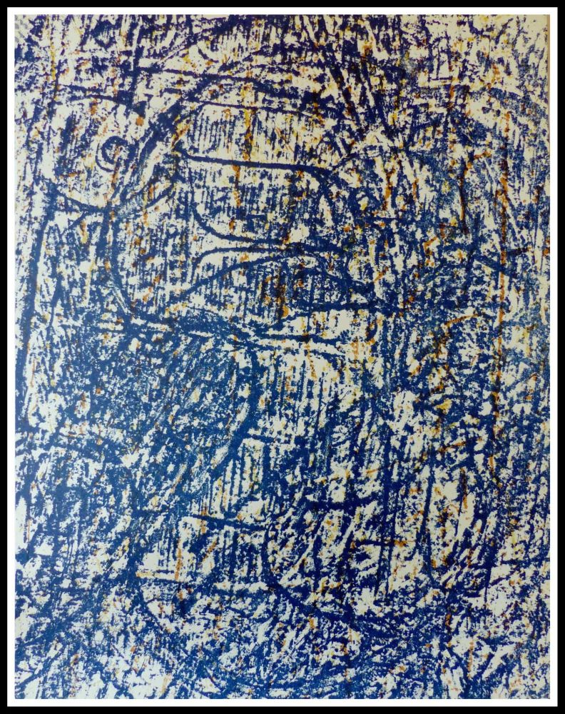 Lithographie Ernst - LA FORET BLEUE