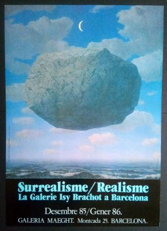 Affiche Magritte - LA GALERIE ISY BRACHOT A BARCELONA - MAEGHT 1986